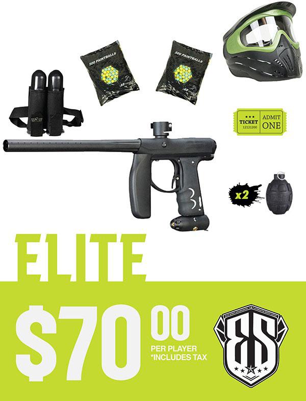 Elite Paintball Rental PackagePricing $70